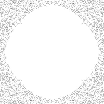 Art pour cahier de coloriage avec un beau cadre