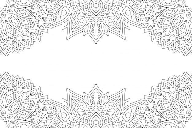 Art pour cahier de coloriage avec motif et espace de copie