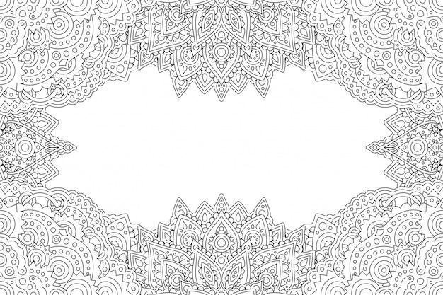 Art pour colorier une page de livre avec une bordure