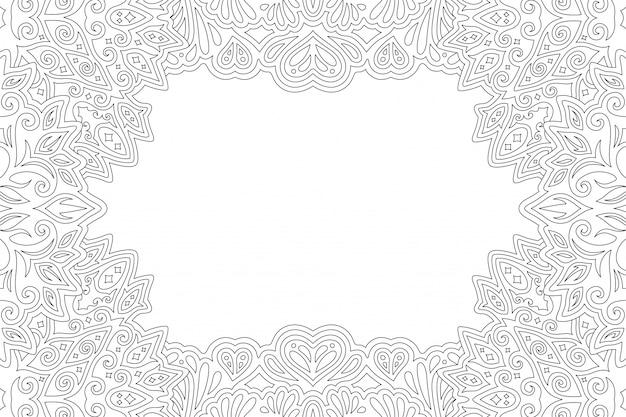 Art pour la page de livre de coloriage avec bordure rectangle