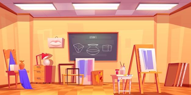 Art salle de classe vide artiste studio intérieur
