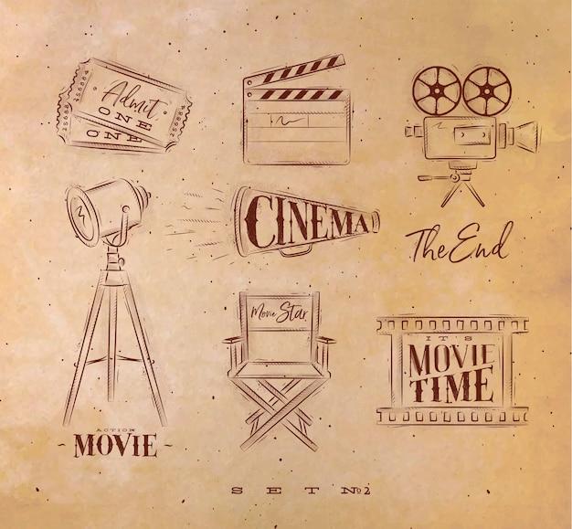 Art de symboles de cinéma