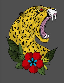 Art de tatouage jaguar
