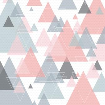 Art triangulaire abstrait de style scandinave