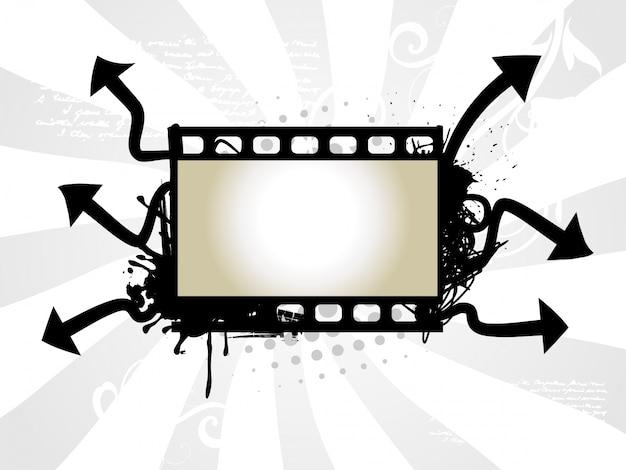 Art vectoriel de la bobine photo avec fond de flèche