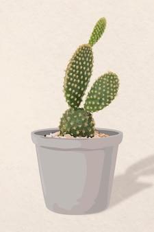 Art vectoriel végétal, illustration de cactus