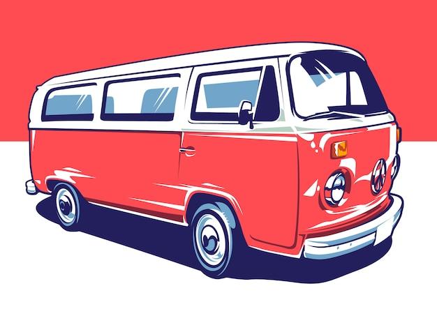 Art de voiture hippie