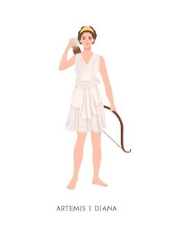 Artémis ou diane - déesse ou divinité de la chasse, lune et chasteté au panthéon grec et romain