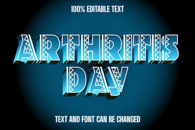 Arthrite day effet de texte modifiable style moderne