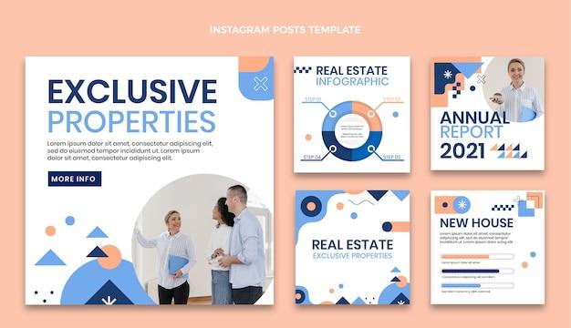 Article instagram géométrique abstrait sur l'immobilier