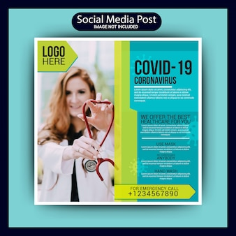 Article sur les médias sociaux médicaux de covid 19