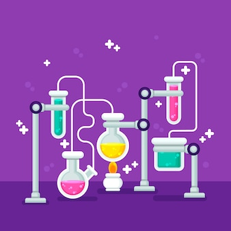 Articles de papeterie de laboratoire scientifique de conception plate