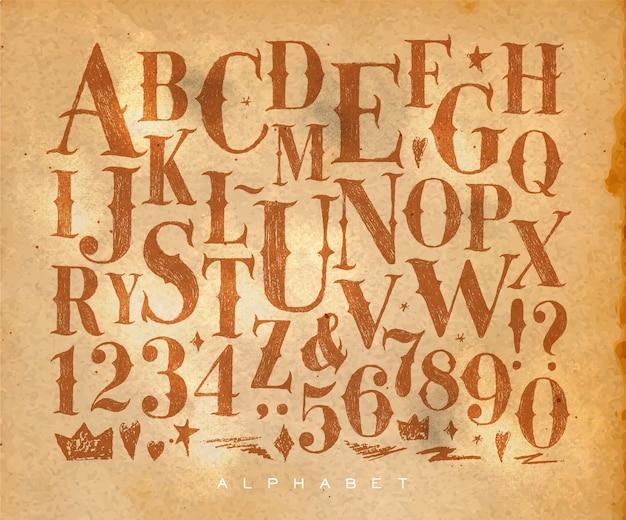 Artisanat de l'alphabet gothique vintage