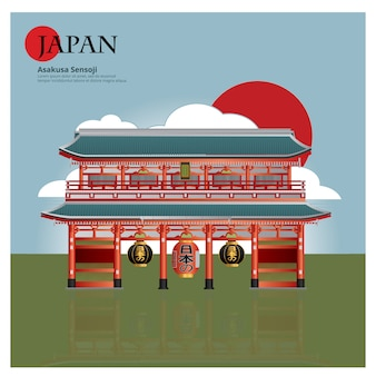 Asakusa sensoji japon landmark