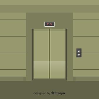 Ascenseur brun
