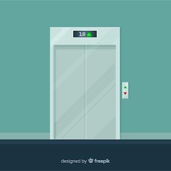 Ascenseur fermé