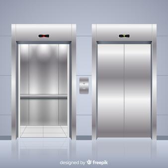 Ascenseur moderne avec un design réaliste