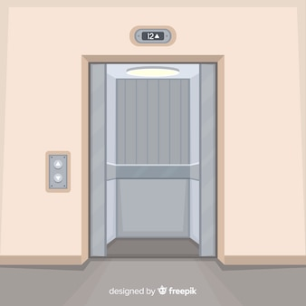 Ascenseur avec portes ouvertes