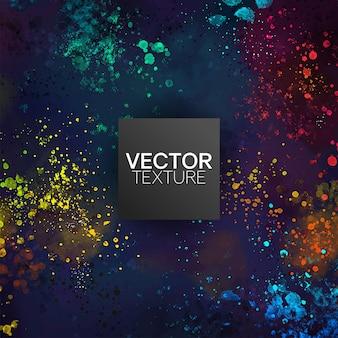 Aspect multicolore des taches de peinture