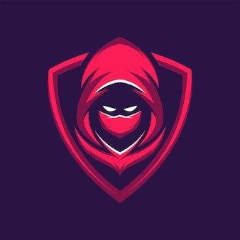 Assassin warrior mascot logo illustration de jeu