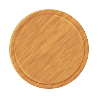 Assiette en bois pour pizza.