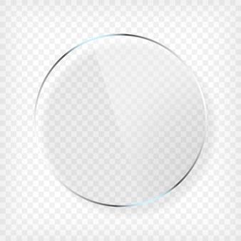 Assiette en verre ronde avec ombre