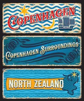 Assiette vintage copenhague et nord-zélande danemark