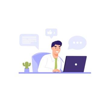 Assistant internet ou employé de bureau.