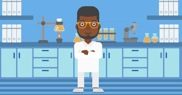 Assistant de laboratoire masculin.