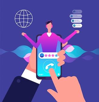 Assistant virtuel à l'intérieur du smartphone