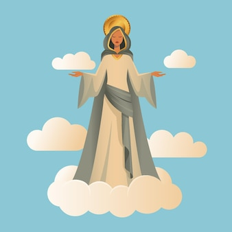 Assomption de marie illustration