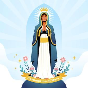 Assomption plate de l'illustration de marie