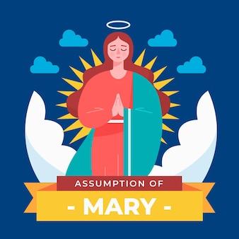 Assomption plate d'illustration de marie