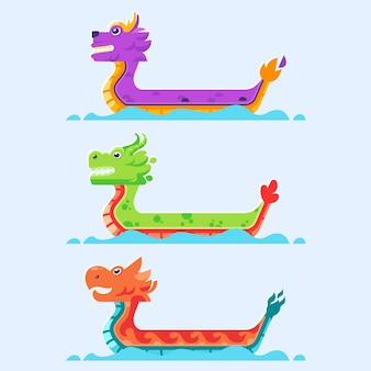 Assortiment de bateau dragon
