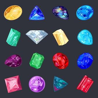Assortiment de bijoux, boutique de pierres précieuses.
