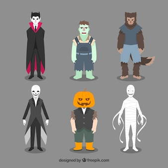 Assortiment de costumes d'halloween