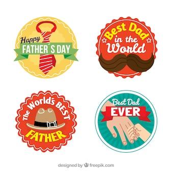 Assortiment d'étiquettes décoratives pour père