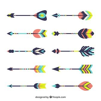 Assortiment de grandes flèches dans le style boho