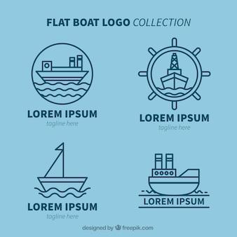 Assortiment de logos à bateaux plats