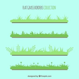 Assortiment de plats frontières d'herbe