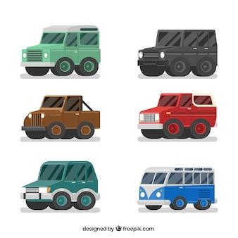 Assortiment de véhicules de couleur