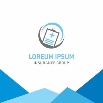 Assurance santé logo modèle