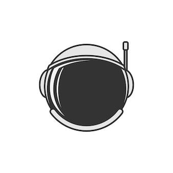 Astonauts casque icône modèle de conception illustration vectorielle