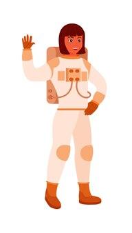 Astronaute afro-américain sur fond blanc