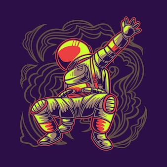 Astronaute break dance
