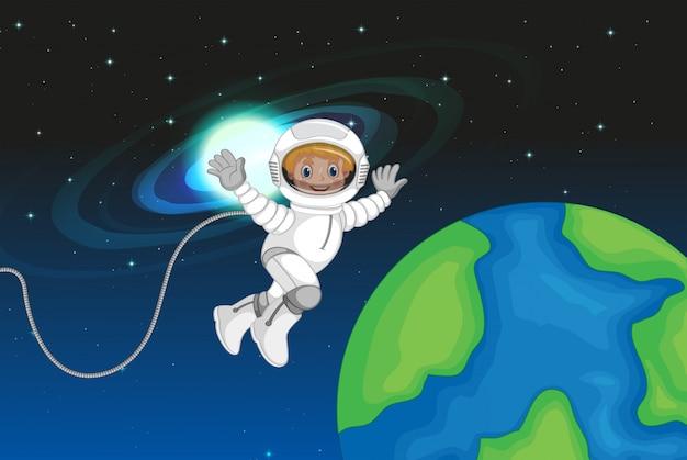 Un astronaute dans l'espace