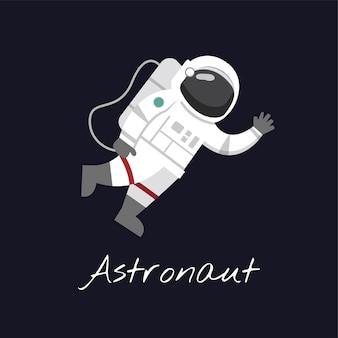 Astronaute dans le vecteur de l'espace
