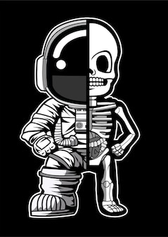 Astronaute demi squelette