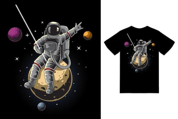 L'astronaute détruit la lune