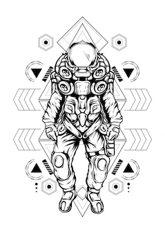 Astronaute géométrie sacrée